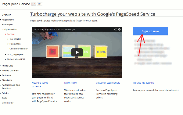 pagespeed-signup