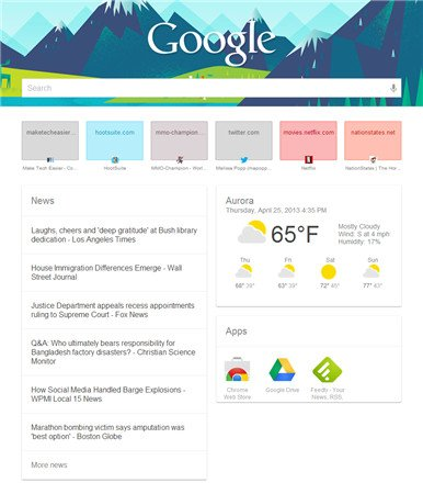 google-now-new-tab-page-in-use