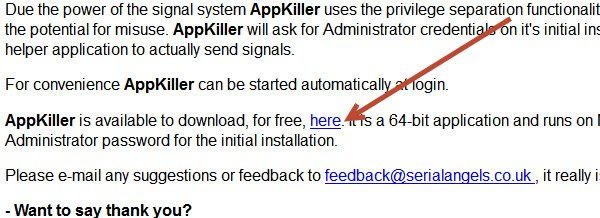 Click 'here' to download AppKiller.