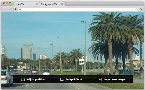 You can adjust the position of your background image and add effects.
