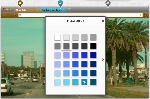 My Chrome Theme has an easy to use color picker.