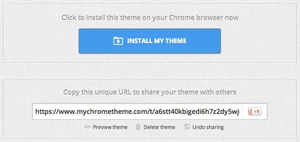You can install and/or share your theme with the world.