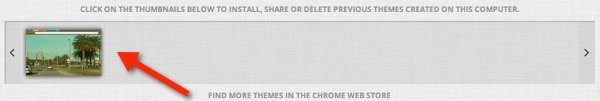You'll get easy access to all of your custom themes.