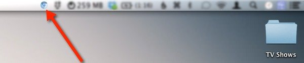 Objektiv displays the icon for your default browser in the menu bar.