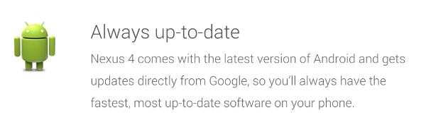 Android Nexus Updates
