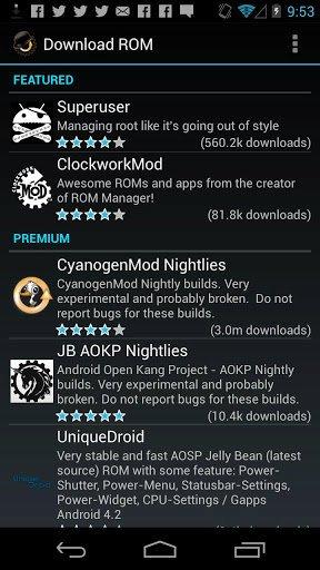 ClockworkMod ROM Manager