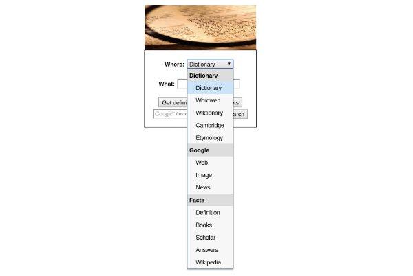 Dictionary Search Chrome app