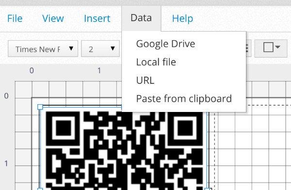 Printable QR Codes Data Insert