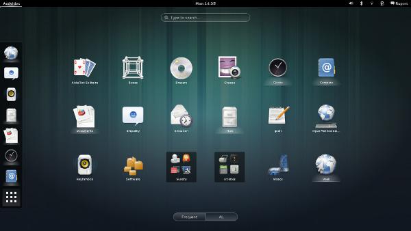 Linux Touch Desktop Environment GNOME