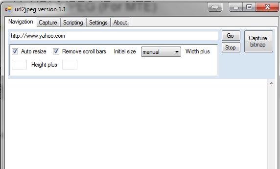 URL2JPEG-Main-Interface