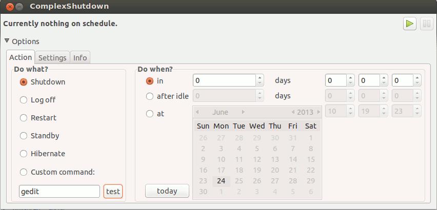 schedule ubuntu shutdown with complexshutdown