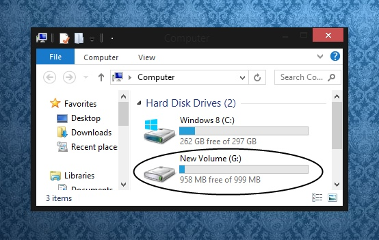 Partitioning your hard drive - create new drive