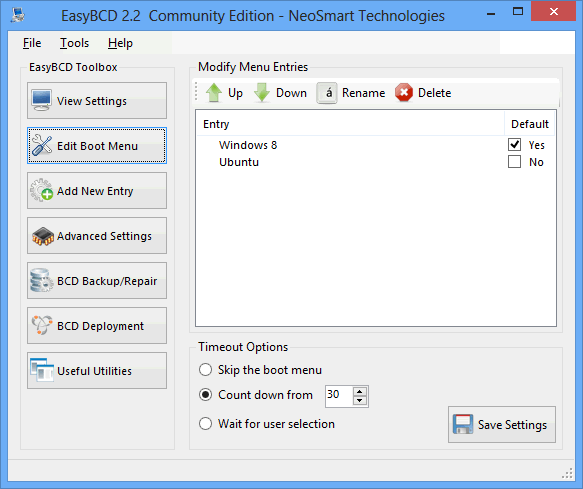 easybcd edit boot menu windows 8