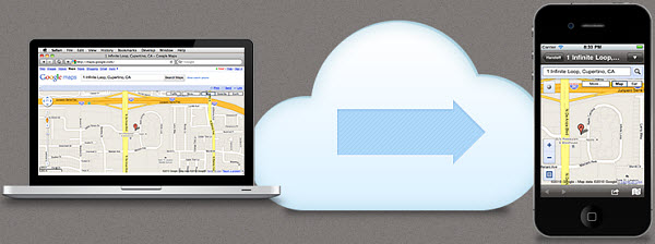 Use Handoff to send maps from your Mac to your iOS device.