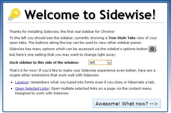 Welcome to Sidewise