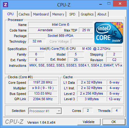 check the system information using CPU-Z
