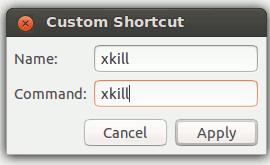 Setup a new xkill command in ubuntu