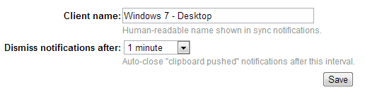 Clipboard Sync options saved