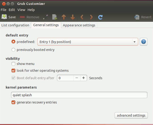 grub-customizer-general-settings