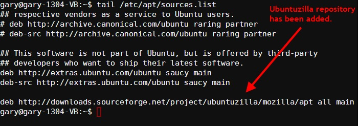 ubuntuzilla repository added