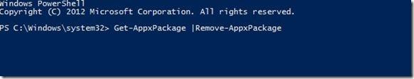 Remove Pre-installed Programs Windows 8 - Power Shell