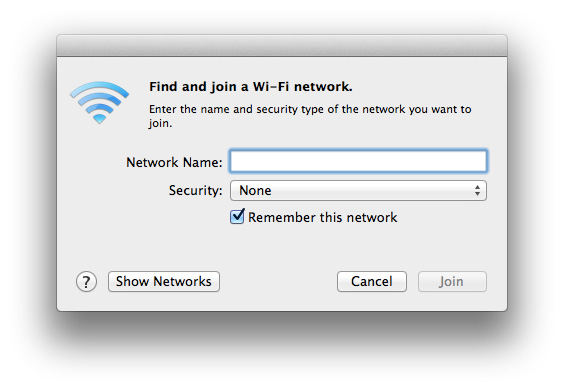 Manage WiFi Networks - Join Network