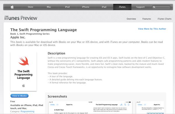 Swift-Programming-Lanuguage-iBooks