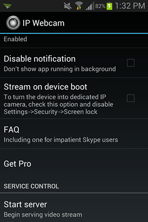 androidcam-start