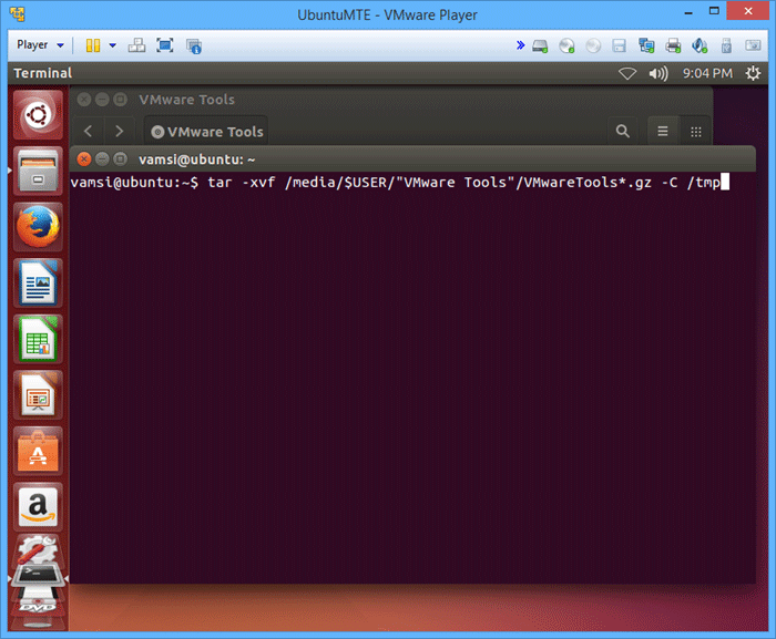install-vmware-tools-extract-command
