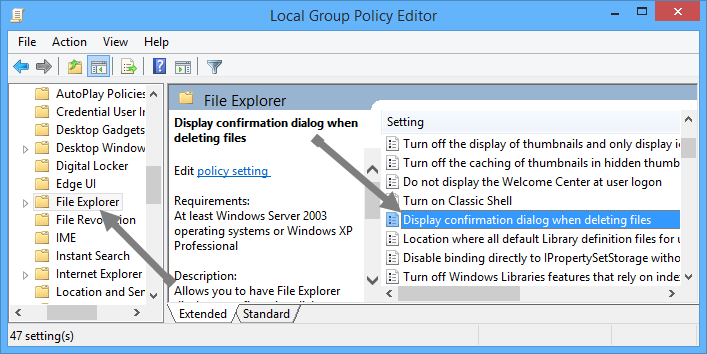 enable-delete-confirmation-dialog-box-group-policy-path
