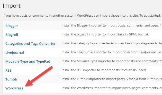 wordpress-multisite-to-single-site-select-wordpress-link