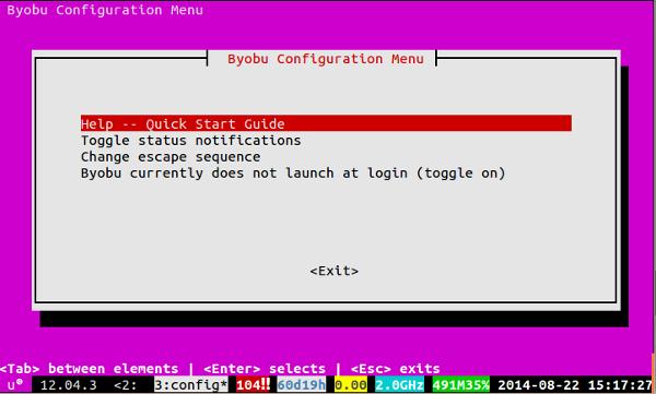 byobu-configuration-menu