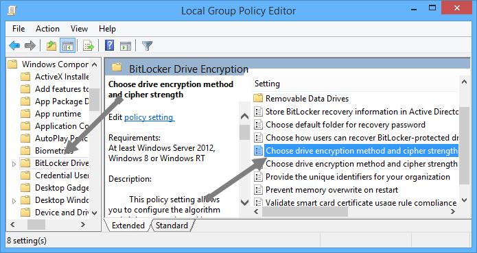 change-bitlocker-encryption-method-bitlocker-policies