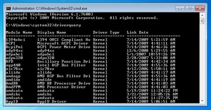 windows-command-line-tools-driverquery