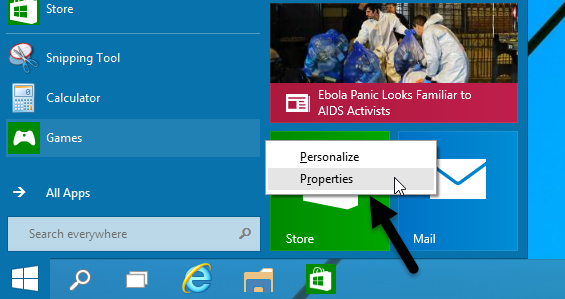 windows-10-start-menu-properties