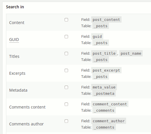 wp-search-replace-custom-search