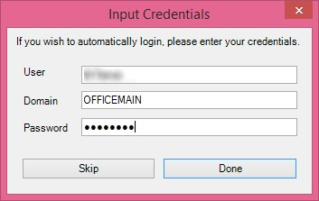 You must input your credentials in order to use the unlock feature in GateKeeper.