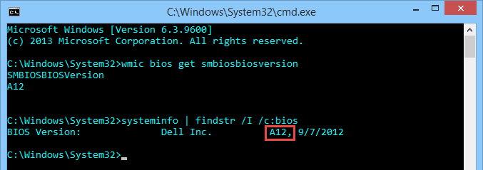 bios-version-systool-command