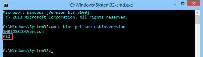 bios-version-wmic-command