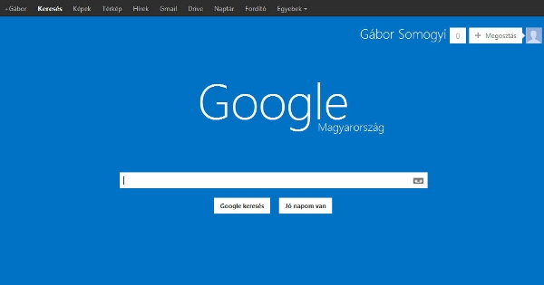 Windows 8-like theme for Google Search.
