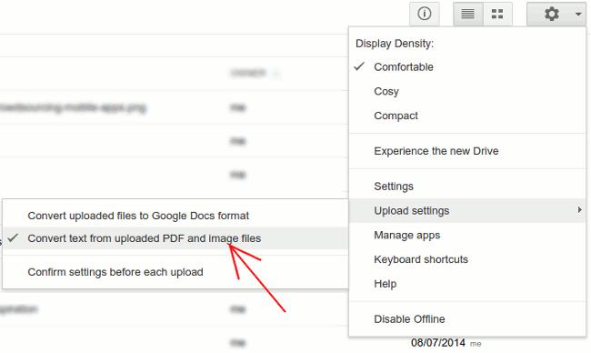 google-drive-convert-text-settings