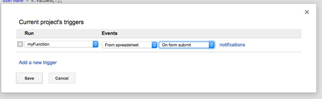 Tell the spreadsheet when to send the confirmation email.