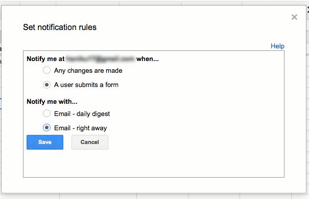 Choose when to send the notification and how often.