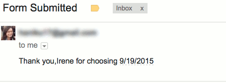 You should have the confirmation email.