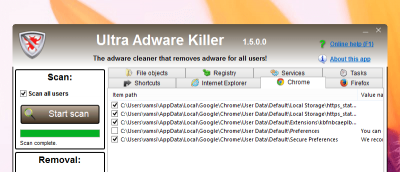 Ultra Adware Killer - A Simple Utility to Clean Installed Adware
