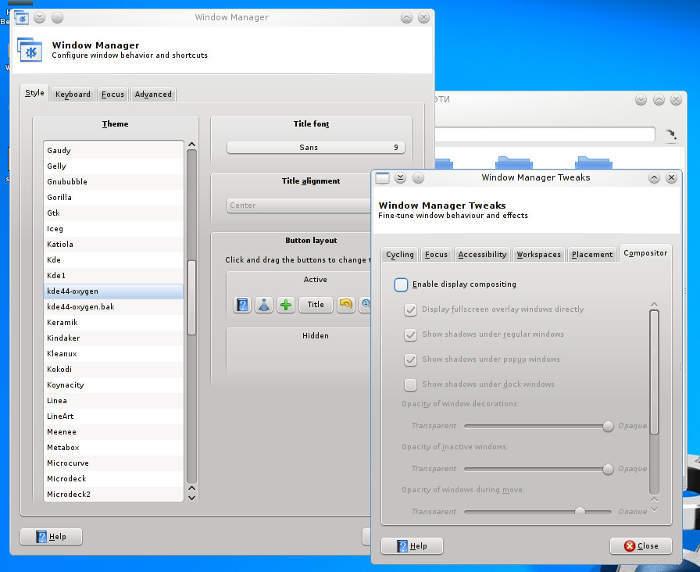 XFWM KDE4.8 Oxygen theme for XFCE4.