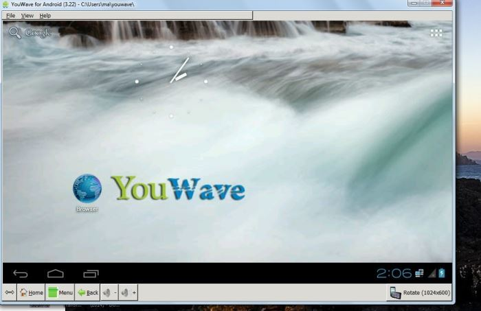 Youwave user interface.