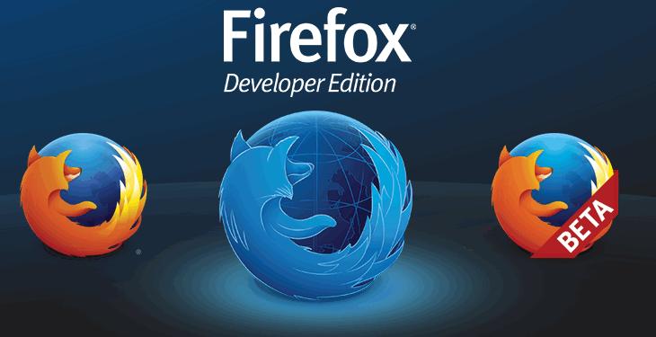 Firefox developer edition website.