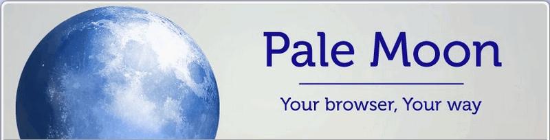 Pale Moon website - Firefox fork.