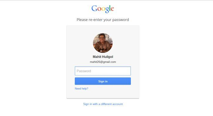 Log into your Google account.